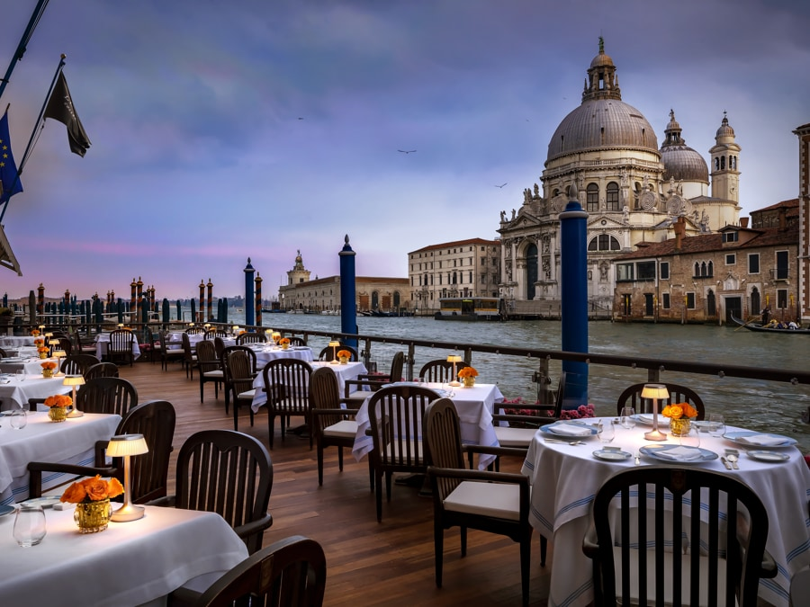 The Gritti Palace, Venezia. Club del Doge Restaurant Terrace
