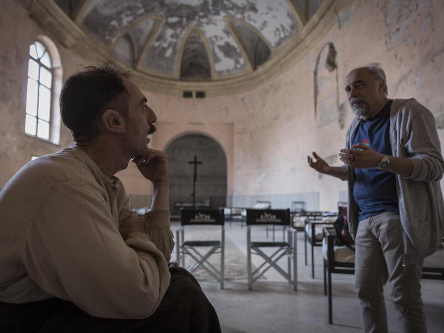 Elio Germano e  Giorgio Diritti. (Foto Chico De Luigi)