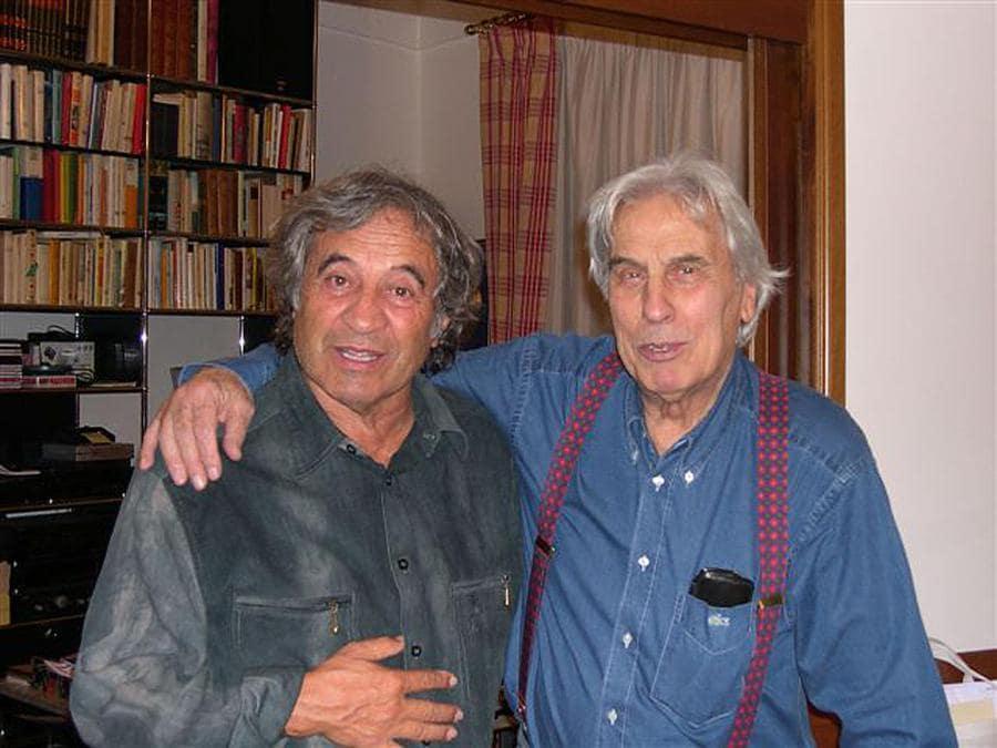 Fred Bongusto con il paroliere e autore  televisivo Alberto Testa.  ANSA/GID