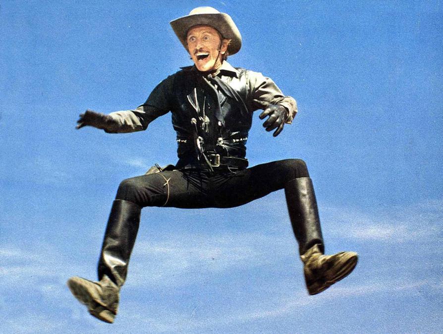 Immagini di scena del film Jack del Cactus (1979), nella foto Kirk Douglas. Foto Italy Photo Press