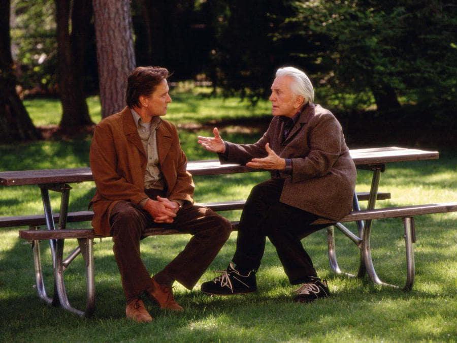 Immagini di scena del film Vizio di famiglia (2003), nella foto Michael Douglas e Kirk Douglas. Foto Italy Photo Press