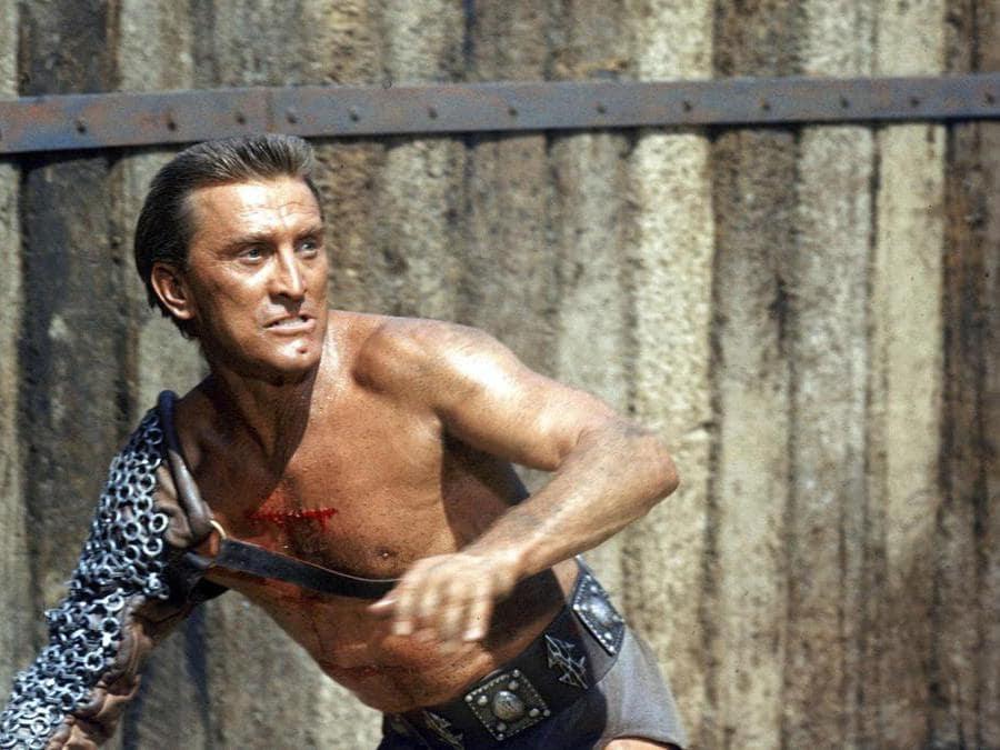 Immagini di scena del film Spartacus (1960),  nella foto Kirk Douglas. Foto Italy Photo Press
