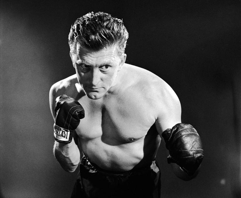 Film Il grande campione (1949),  nella foto Kirk Douglas. Foto Italy Photo Press