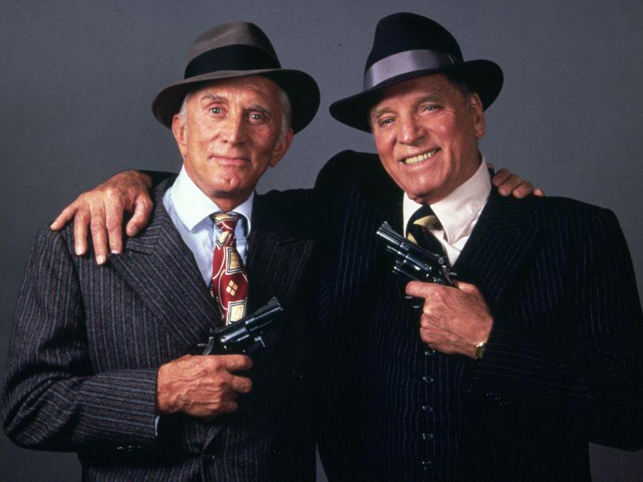 Immagini di scena del film Due tipi incorreggibili (1986), nella foto Kirk Douglas e Burt Lancaster. Foto Italy Photo Press