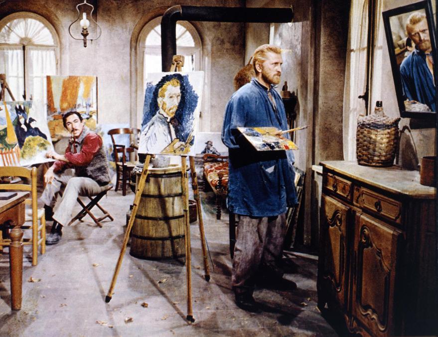 Film Brama di vivere (1956),  nella foto Kirk Douglas. Foto Italy Photo Press