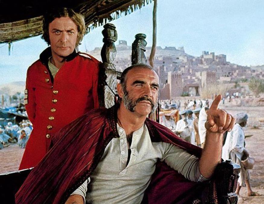 Sean Connery e Michael Caine in ?L?uomo che volle farsi re? . ANSA +++ EDITORIAL USE ONLY- NO SALES NO ARCHIVE+++
