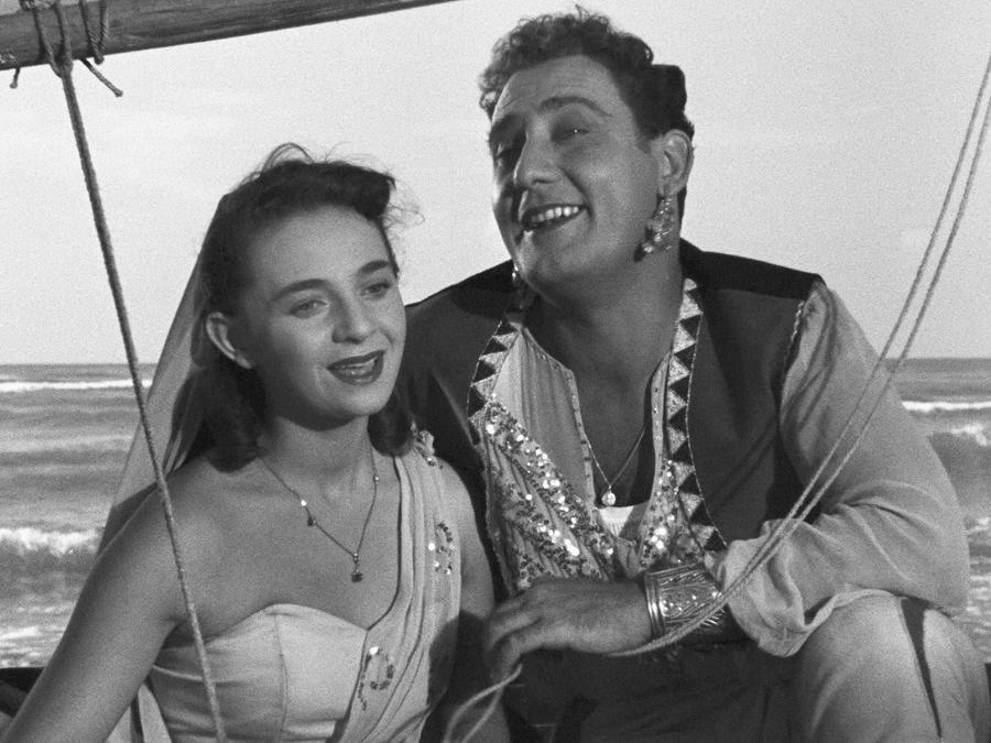 In  Lo sceicco bianco di Federico Fellini (1952), con  Brunella Bovo (Afp)