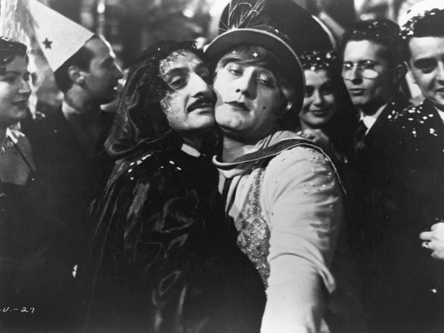 In  I vitelloni di Federico Fellini (1953), con Leopoldo Trieste (Afp)