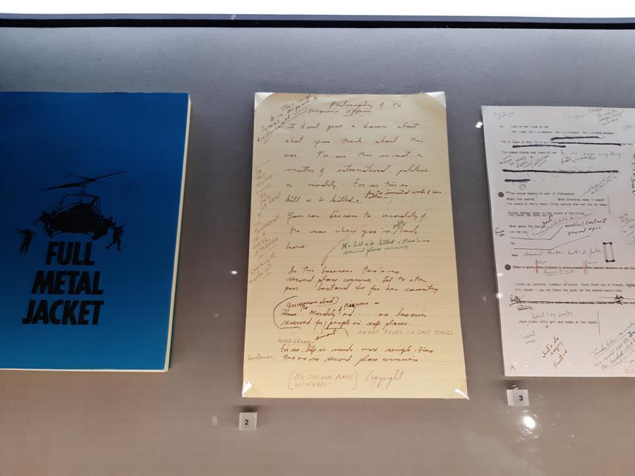 Appunti scritti a mano della sceneggiatura di «Full Metal Jacket»