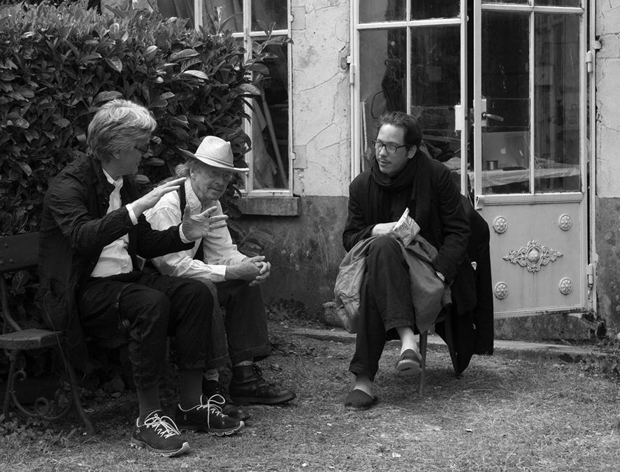 "2016, ""Les Beaux jours d'Aranjuez"", Reda Kateb, Wim Wenders, Peter Handke (Afp)"