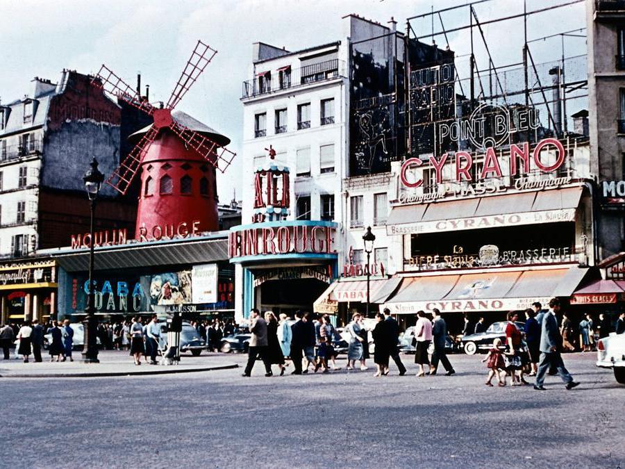 La facciata del Moulin Rouge nel 1959  (Frankreich Länder)