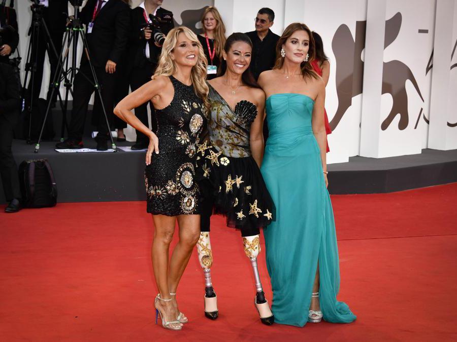 Jo Squillo, Giusy Versace and Francesca Carollo Foto IPP/ Daniele Cifala'