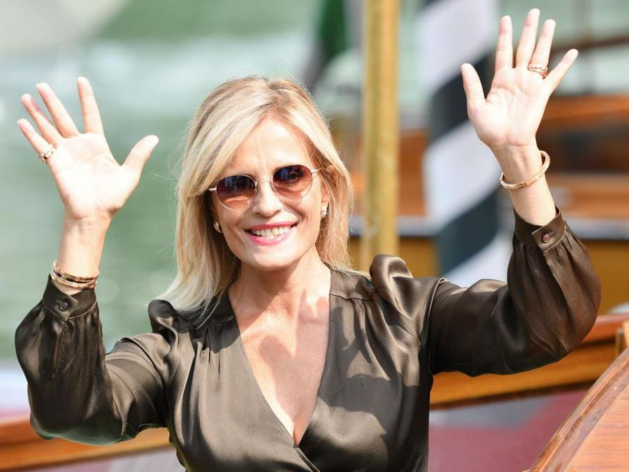 L'attrice Isabella Ferrari  (Photo by Alberto PIZZOLI / AFP)