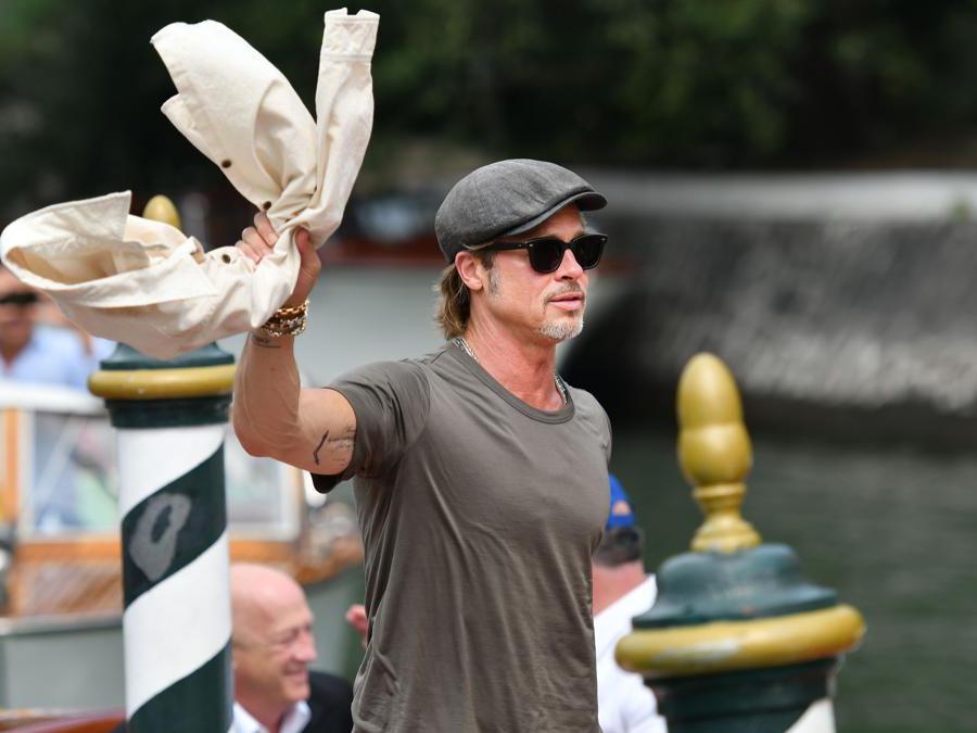 L'attore  Brad Pitt  (Photo by Alberto PIZZOLI / AFP)