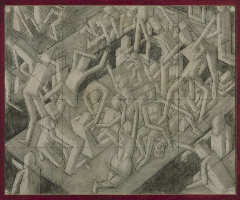 David Bomberg. Study for 'The Vision of Ezekiel', about 1912. Chalk and graphite on paper, 56.5 × 68.6 cm. Tate, London (T01681). Presented by the executors of Mrs Helen Bentwich 1972. © Tate