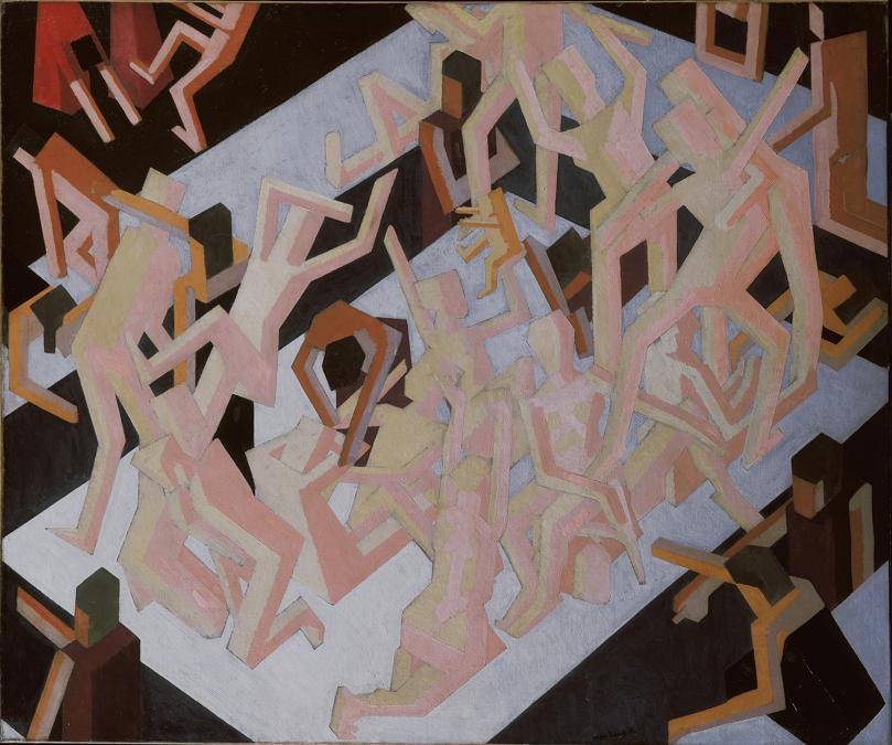 David Bomberg. Vision of Ezekiel, 1912. Oil on canvas, 114.3 × 137.2 cm. Tate, London (T01197). Purchased with assistance from the Morton Bequest through the Contemporary Art Society. 1970. © Tate