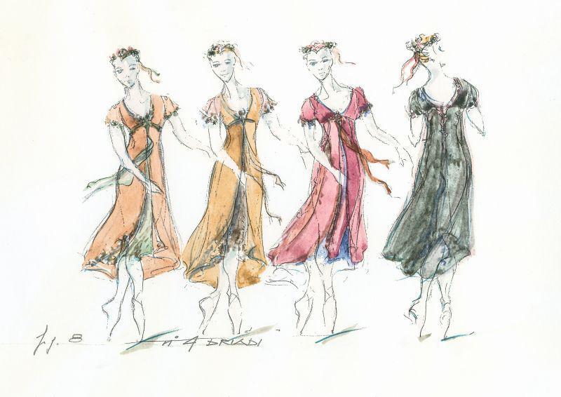 Sylvia: disegno dei costumi, di Luisa Spinatelli