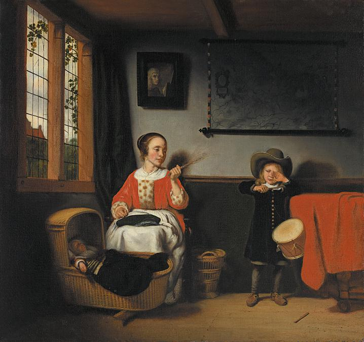 Young Mother with her Children. Nicolaes Maes about 1656. © Museo Nacional Thyssen-Bornemisza. Madrid
