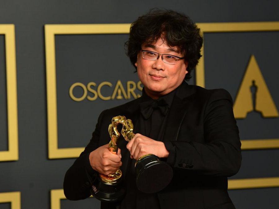 Il regista del film Parasite Bong Joon oscar come miglior film, miglior regia, miglior sceneggiatura originale(Photo by FREDERIC J. BROWN / AFP)