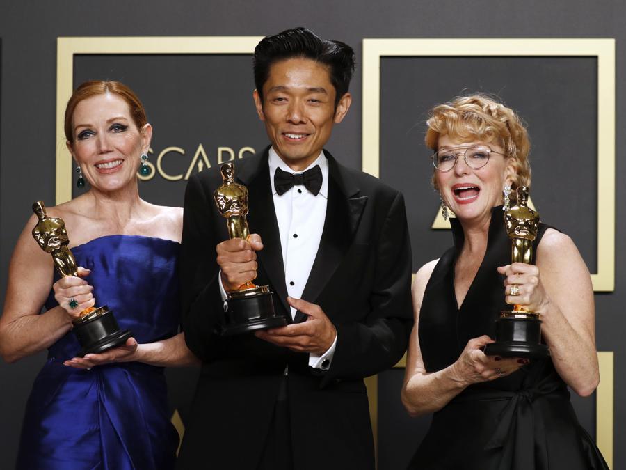 Anne Morgan, Kazu Hiro e  Vivian Baker Oscar per il miglior make up per Bombshell d EPA/DAVID SWANSON