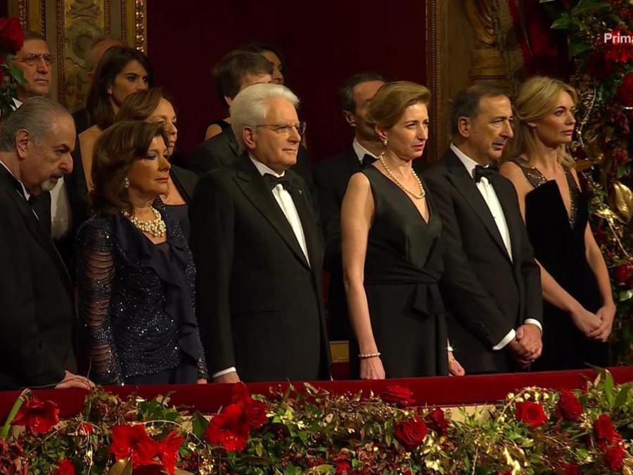 Prima della Scala edizione 2019, Tosca, di Giacomo Puccini. Immagini tratte dalla diretta televisiva della Rai (Alberto Cattaneo/Fotogramma)