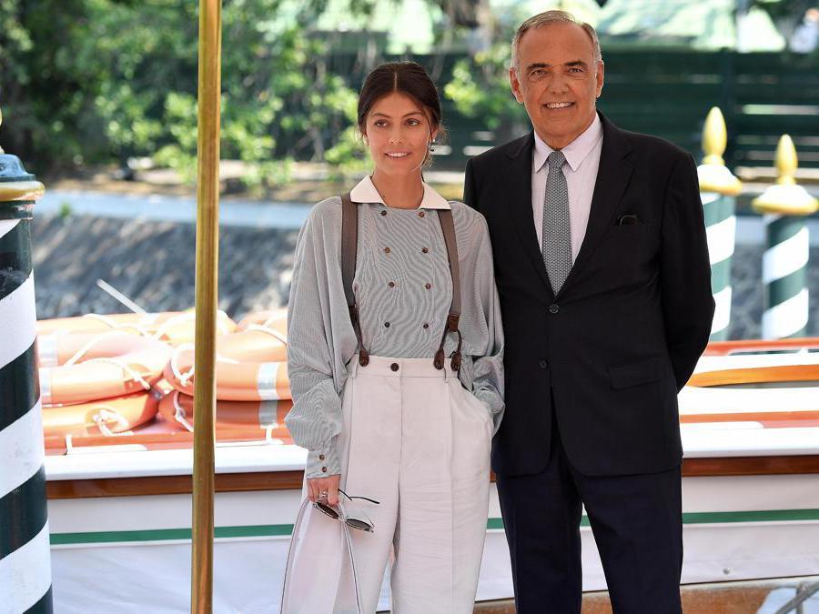 l'attrice italiana Alessandra Mastronardi e il Direttore del festival  Alberto Barbera ANSA/ETTORE FERRARI