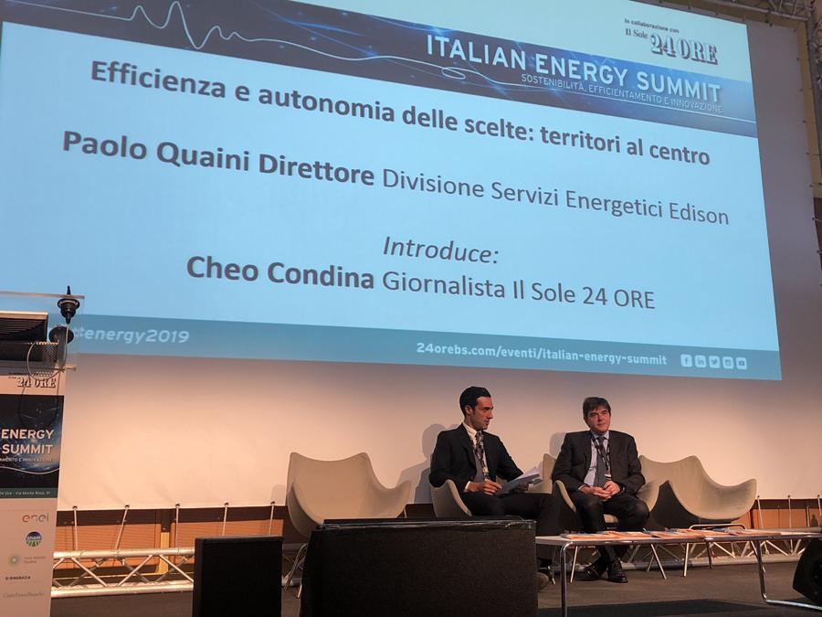 All'Italian Energy Summit prende la parola Paolo Quaini (Edison News)
