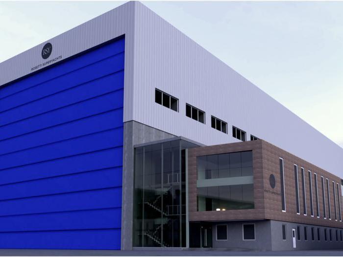 Rosetti, nuovo capannone per costruire superyacht