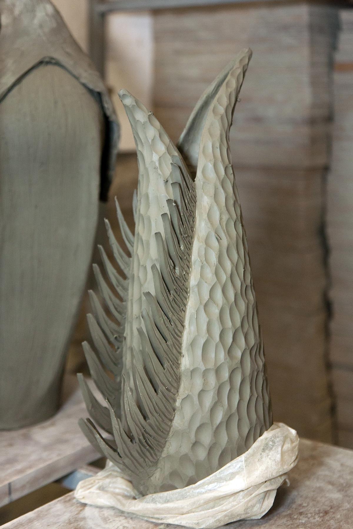 Uno dei vasi scultura di Semina. (foto di Laura Tofani)