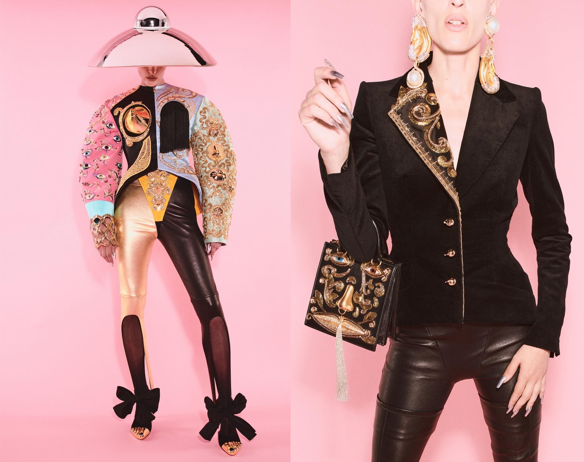 """Schaipparelli Haute Couture Daniel Roseberry ha mandato in scena """"The Matador"""": Una collezione che onora la visione di Elsa ma non ne è schiava. Ha scelto di enfatizzare la visione bolidista della casa. Gli abiti si fondono con i gioielli oversize e provocanti. Tutti i capi sembrano conversare con alcune delle creazioni più irriverenti e fantasiose di Elsa Schiaparelli della fine degli anni '30, ricreate da Lesage, usando molte di quelle tecniche e materiali."""