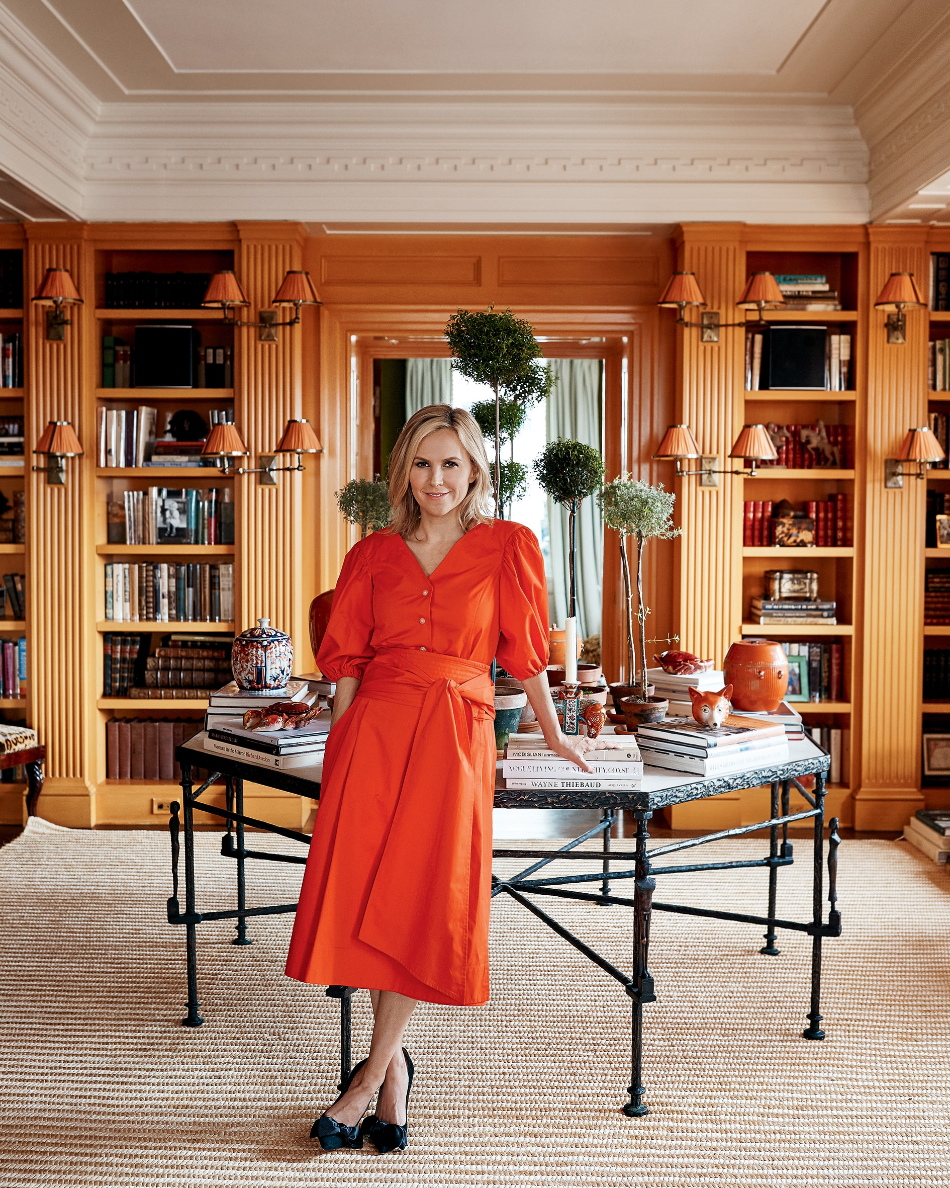 La stilista Tory Burch nella sua casa di New York.