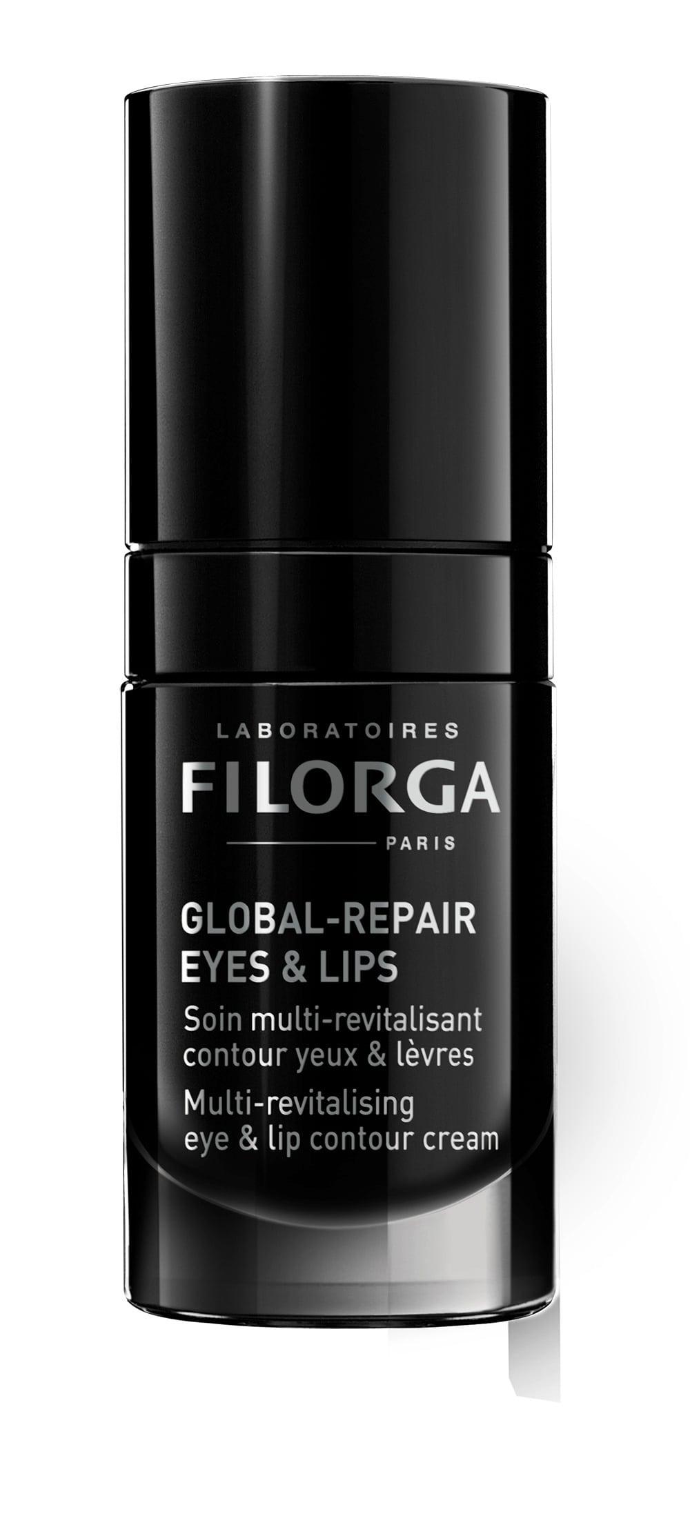 FILORGA GLOBAL REPAIR EYES & LIPS Azione intensiva per restituire vitalità ed elasticità alla pelle del contorno occhi ma anche del contorno labbra.