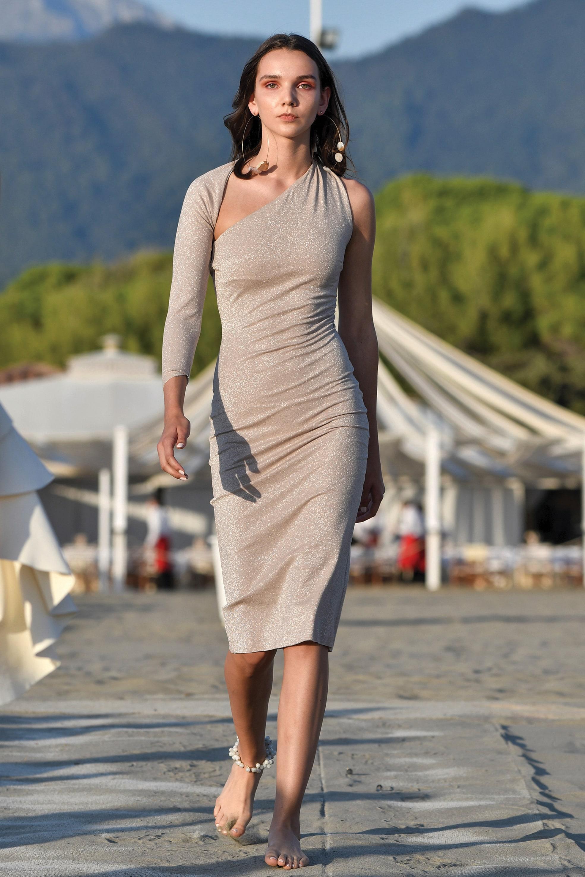 CHIARA BONI Abito La Petite Robe in jersey di cotone stretch con dettagli in lurex.