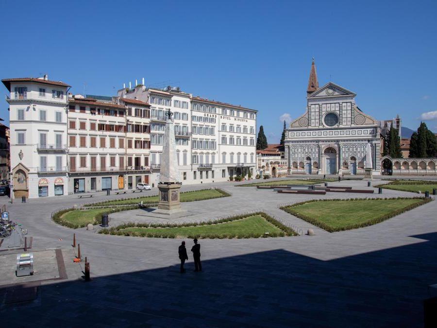 Firenze, piazza e Chiesa Santa Maria Novella (Giuseppe Zicarelli).