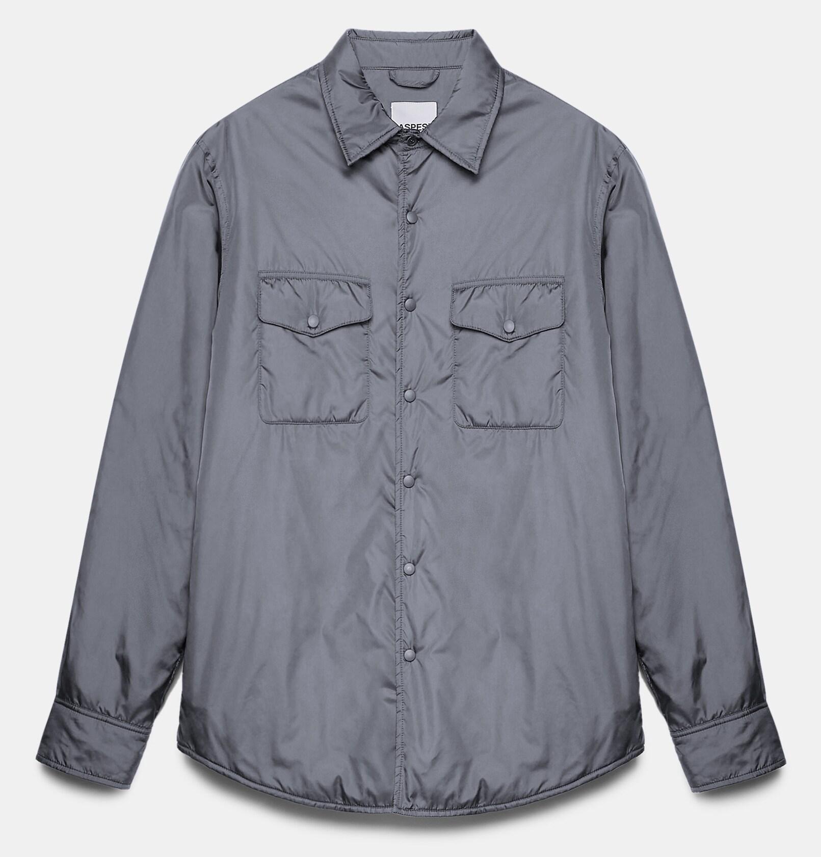 ASPESI Giacca-camicia 13, in nylon imbottito con ovatta Thermore, prodotta interamente da bottiglie riciclate.