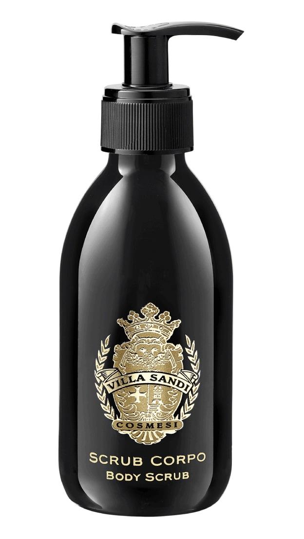 VILLA SANDI Emulsione esfoliante a base di derivati del vino e micro capsule in cera per una delicata azione scrub e levigante.