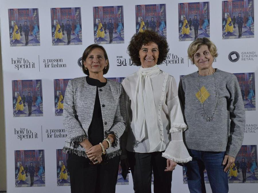 Francesca Padula, responsabile .Moda (a sinistra), Nicoletta Polla Mattiot, direttore How to Spend It (al centro), Giulia Crivelli, fashion editor .Moda (a destra)