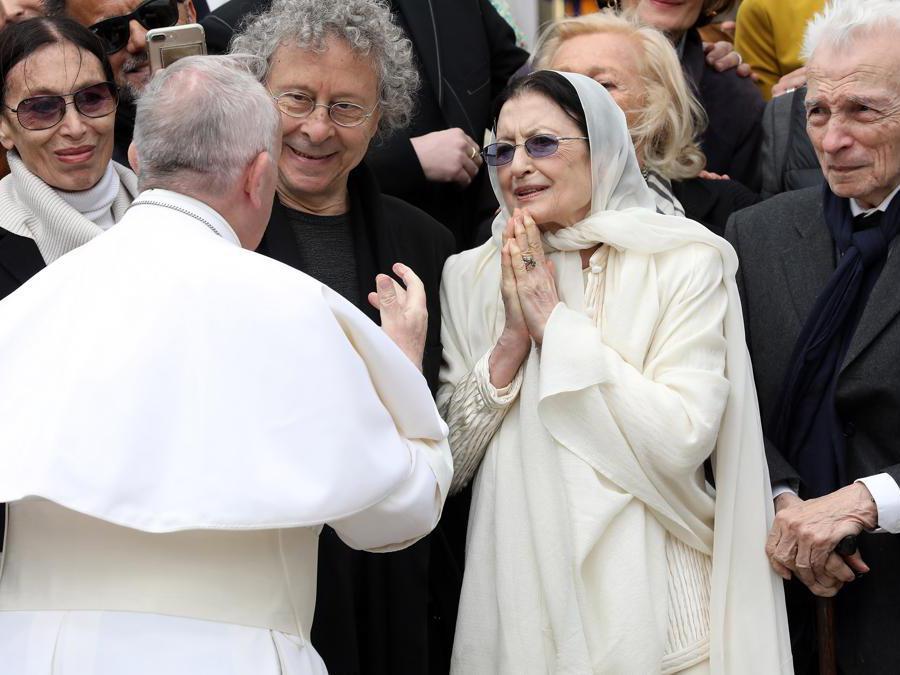 Carla Fracci e papa Francesco  (Franco Origlia/Getty Images)