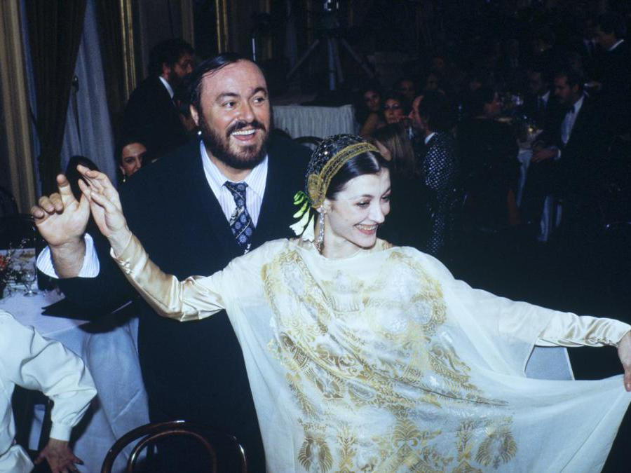 Carla Fracci eLuciano Pavarotti. (Vittoriano Rastelli/Corbis via Getty Images)