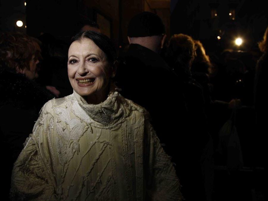 Carla Fracci  in occasione della festività meneghina si celebra la Prima del Teatro alla Scala (Ipp)