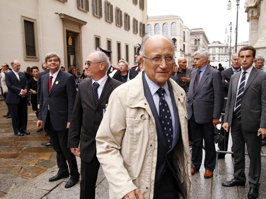 Milano, Funerali solenni per il cardinale Carlo Maria Martini in Duomo, nella foto Francesco-Saverio Borrelli  - 2012 (Agf)