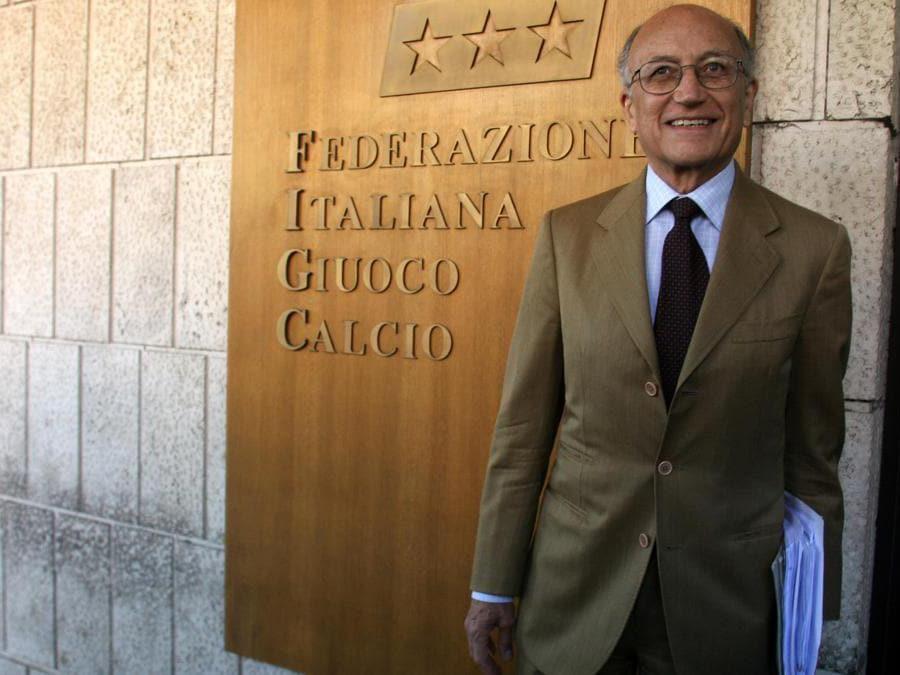 07/06/2006 Il giudice Francesco Saverio Borrelli alla Federcalcio  - 2006 (Agf)