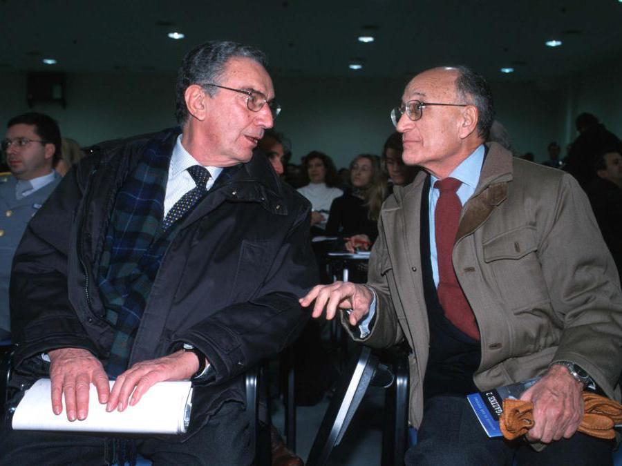 Gerardo D'ambrosio e Francesco Saverio Borrelli (Fotogramma)