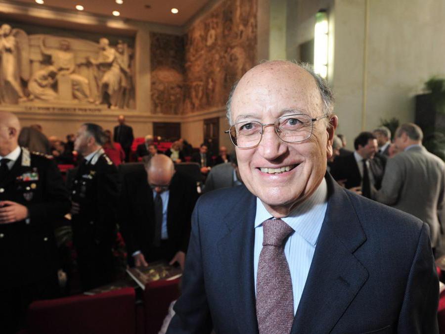 Inaugurazione dell'anno giudiziario tributario 2011, nella foto Francesco Saverio Borrelli (Gianluca Albertari / Fotogramma)