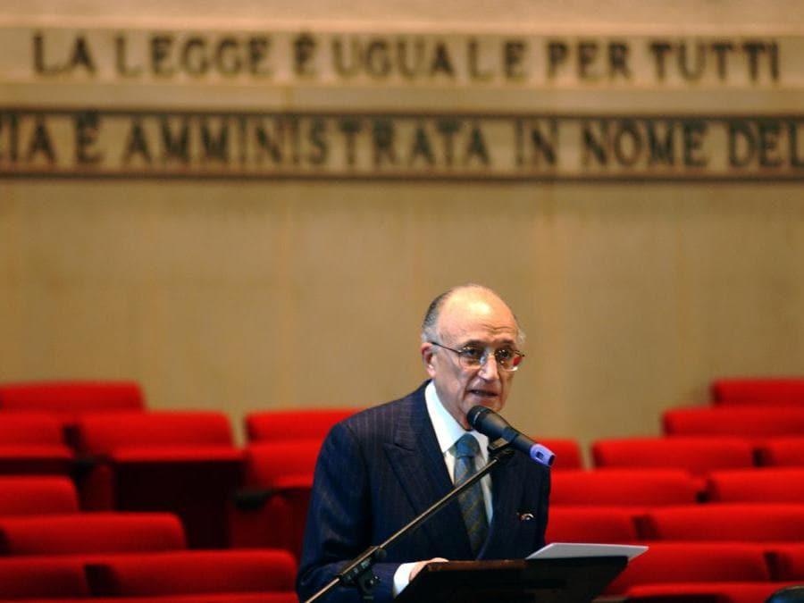 Francesco Saverio Borrelli    - 2005 (Silvano Del Puppo/Fotogramma)
