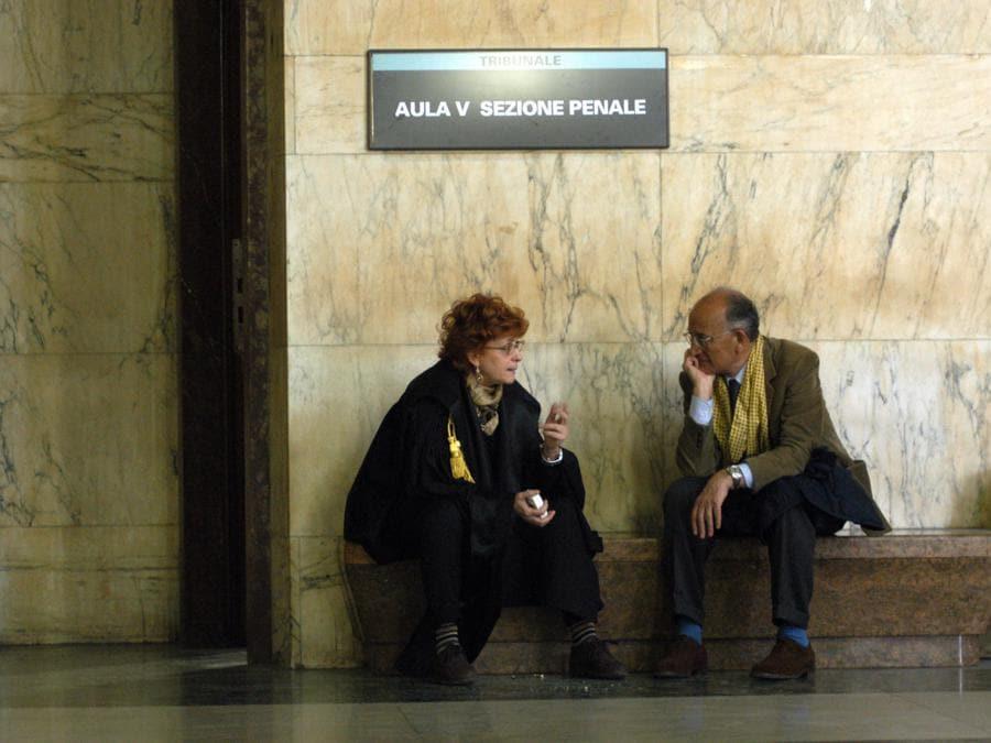Ilda Boccassini e Francesco Saverio Borrelli  Iin tribunale - 2003  TRIBUNALE (Francesco Corradini/Fotogramma)