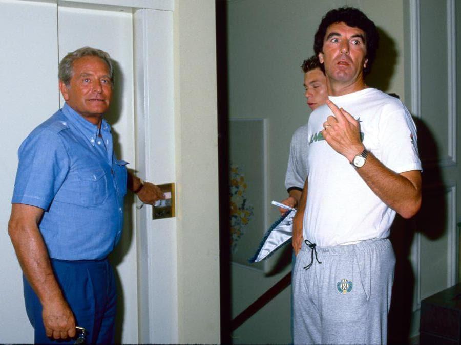 Il presidente della Juventus Giampiero Boniperti con  Dino Zoff nel  1988 (Juventus FC - Archive/Juventus FC -  Getty Images)