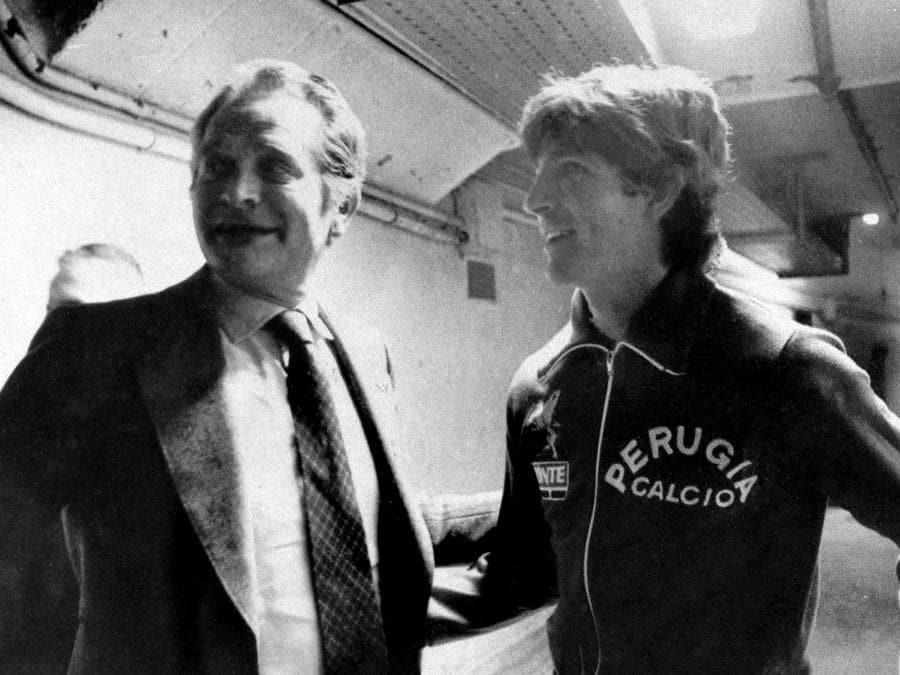 Giampiero Boniperti e Paolo Rossi nel 1980  (Juventus FC - Archive/Juventus FC via Getty Images)