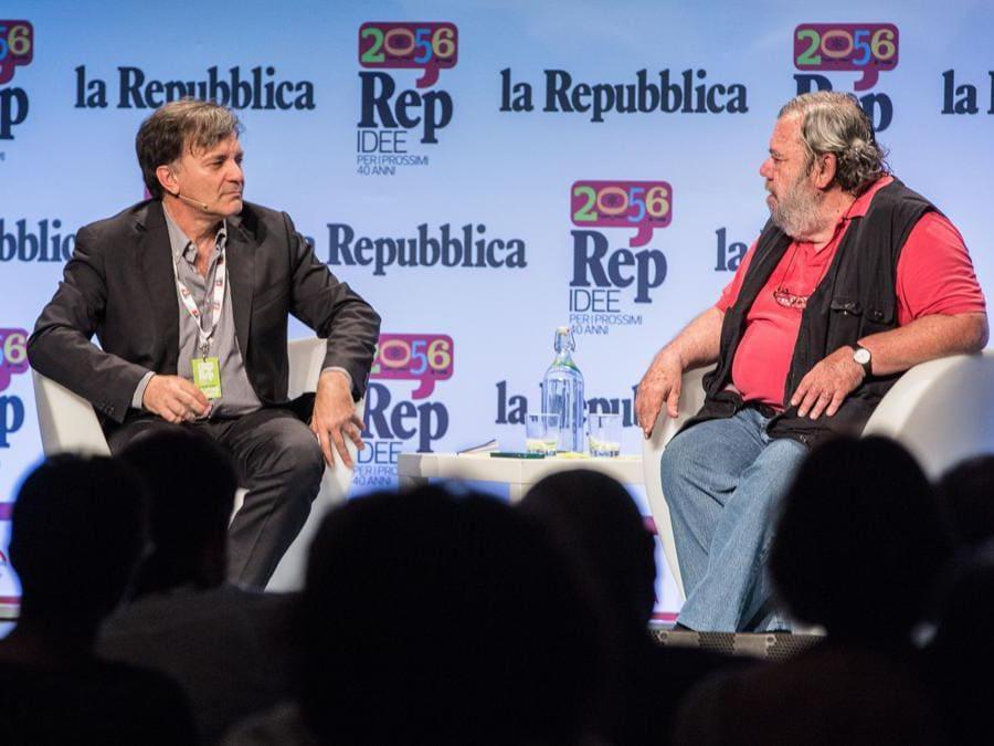 10/06/2016,Roma. Festival Repubblica delle Idee 2056. Nella foto Gianni Mura e Giuseppe Smorto