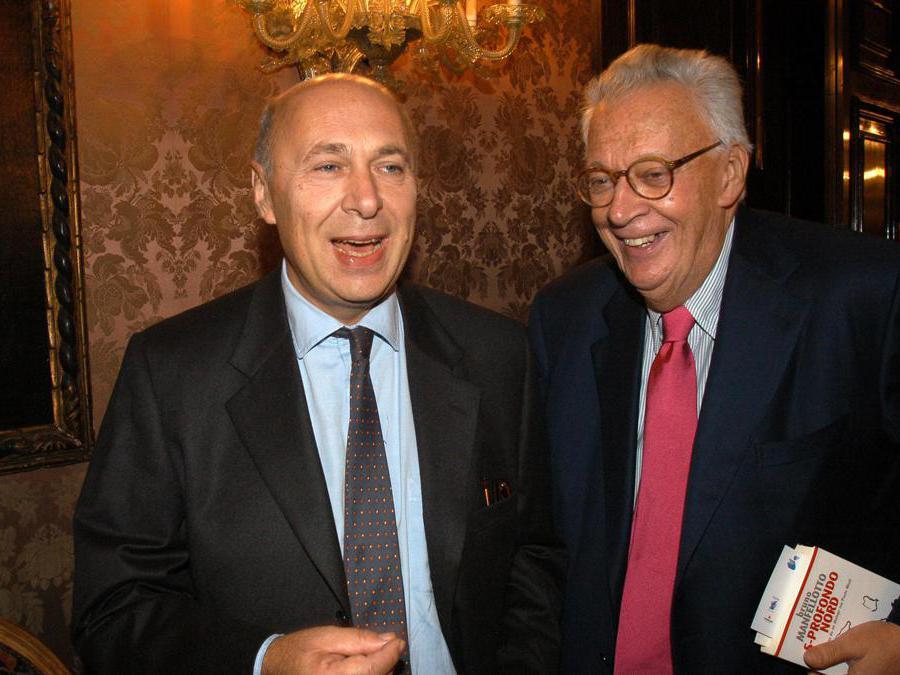 2003. Paolo Mieli e Giampaolo Pansa (Imagoeconomica)